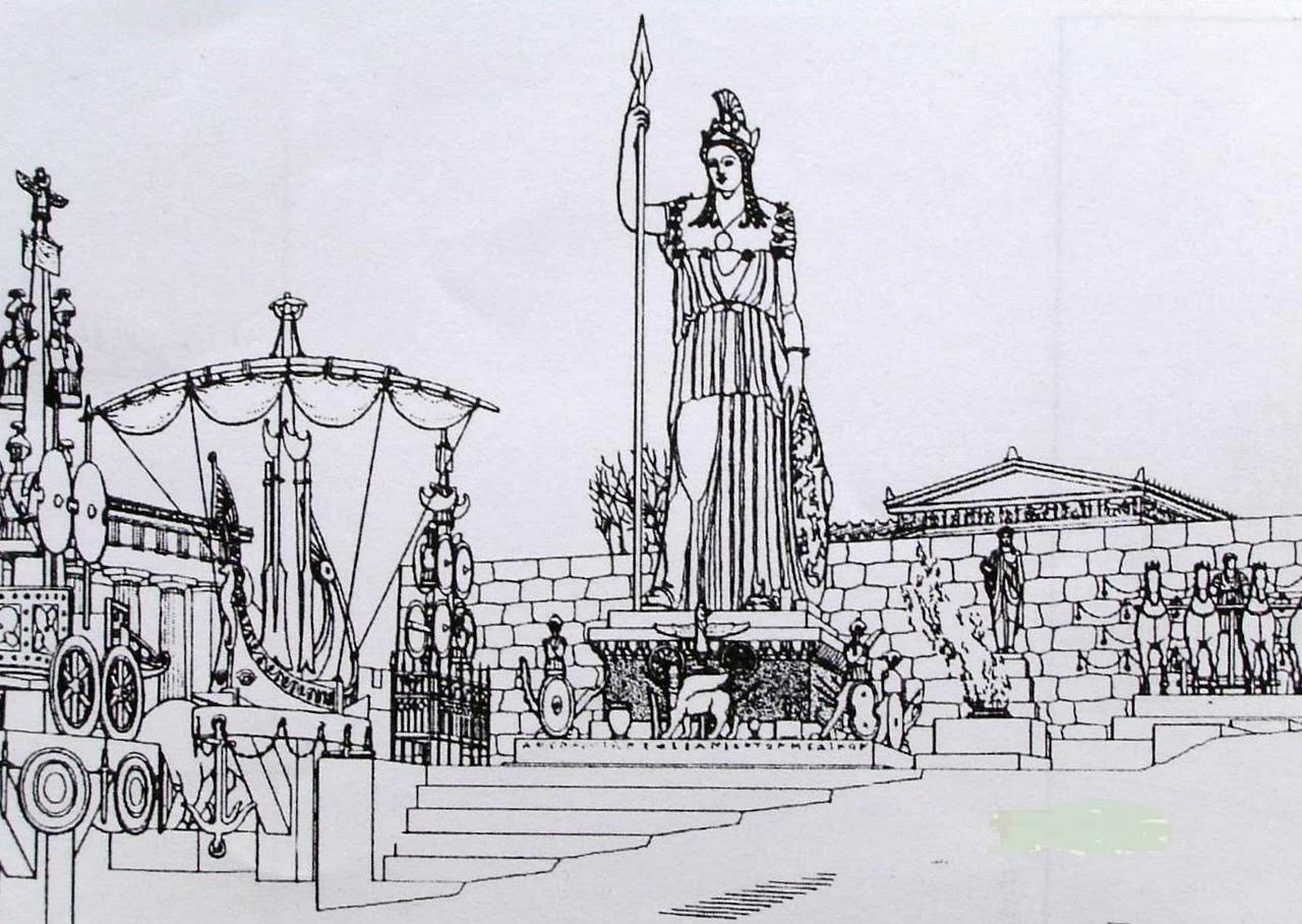 Άγαλμα της Προμάχου Αθηνάς