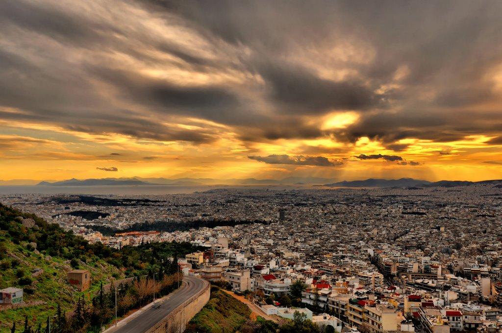 Ηλιοβασιλέματα στην Αθήνα