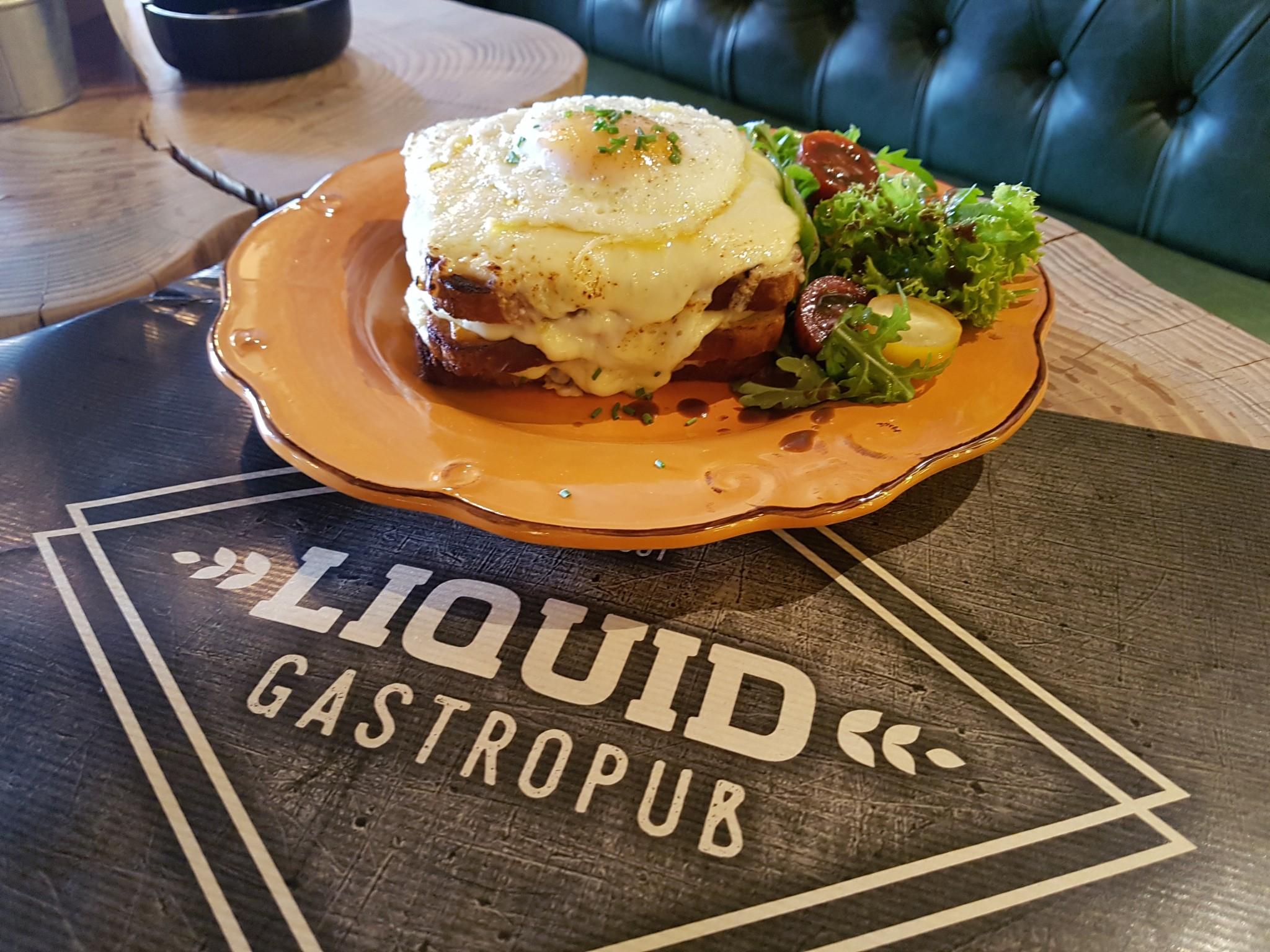 Croque madame by liquid gastropub