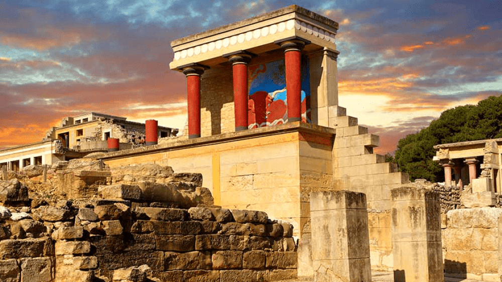 Το ανάκτορο της Κνωσού στην Κρήτη