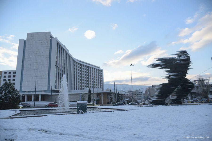 Μια χιονισμένη Αθήνα by @Nikos Christofakis
