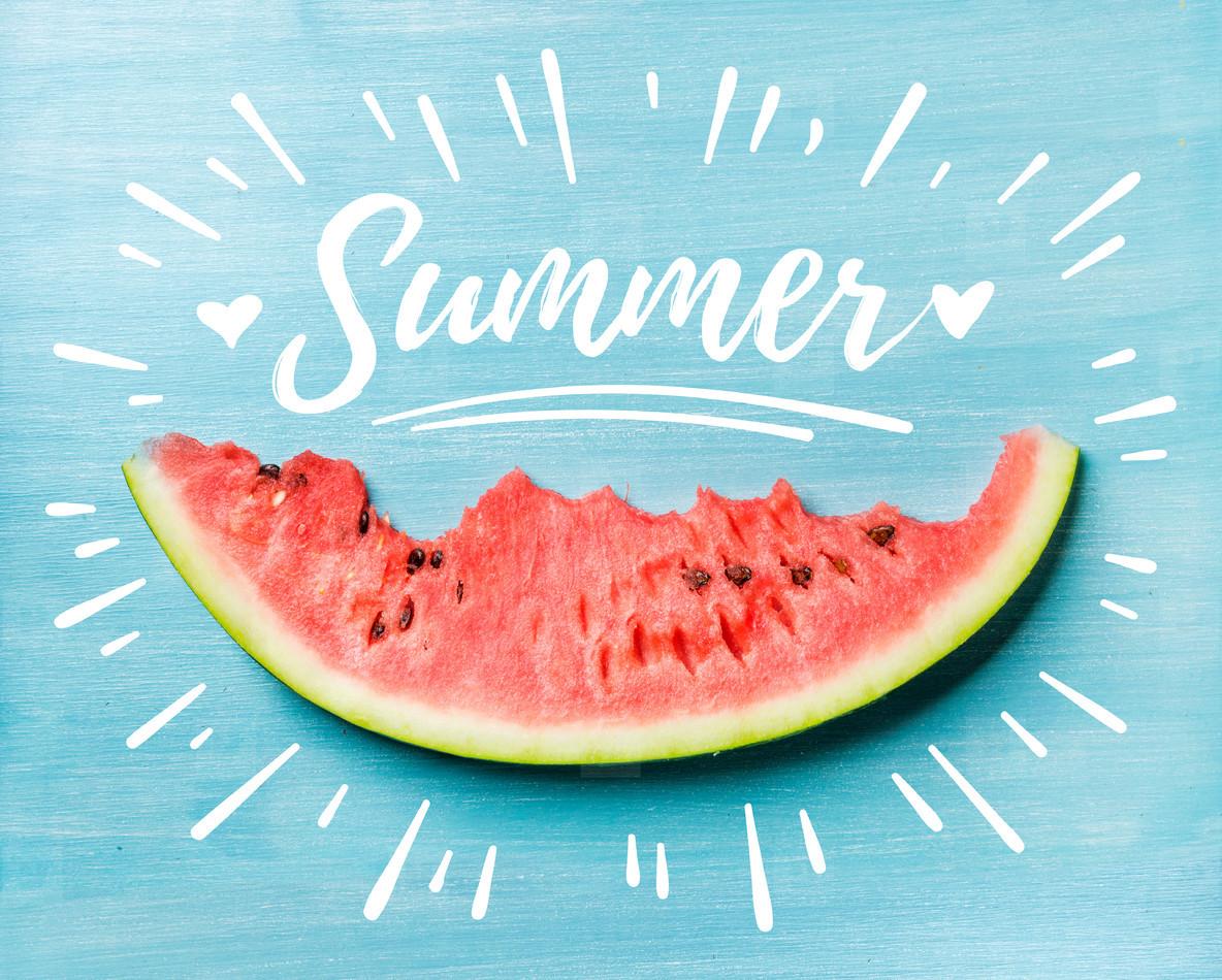 Το καλοκαίρι είναι μια φέτα από καρπούζι